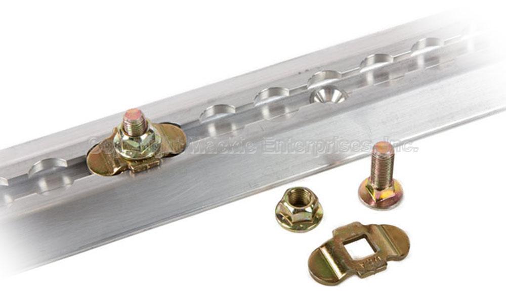 Aluminum load track mounting kit w stud nut tiedown 20 pack ebay
